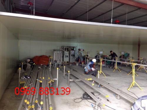 Thi công vách ngăn panel tại KCN Vân Trung Bắc Giang quy mô lớn